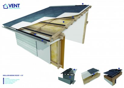 VENT Skillion Mono Pitch Roof Ventilation System