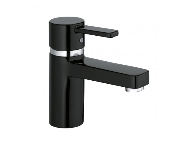 Zenta Basin Mixer Black & Chrome