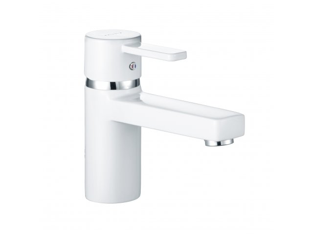 Zenta Basin Mixer White & Chrome