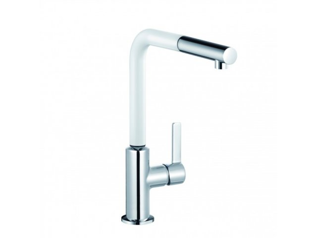 L-ine S Pullout Sink Mixer White & Chrome