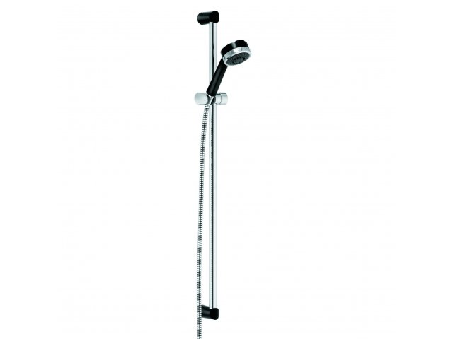 Zenta 3 Setting Shower Set Black & Chrome