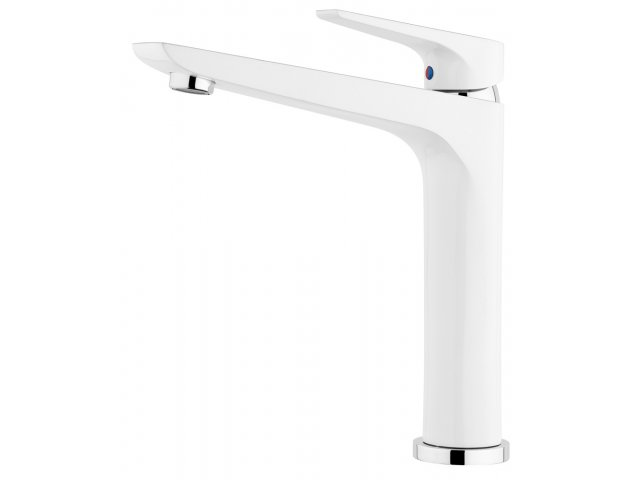 Solitaire Sink Mixer White & Chrome