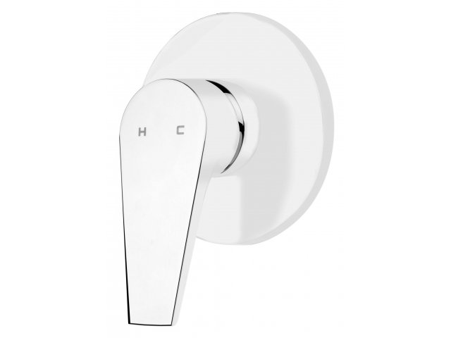 Solitaire Shower Mixer White & Chrome