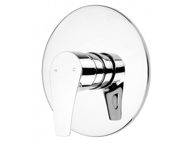 EcoMix Vortex Shower Mixer with Jumbo Faceplate Chrome