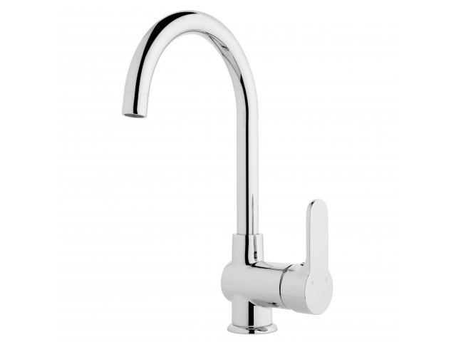 Voda High Rise Gooseneck Sink Mixer Chrome