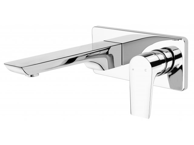 Olympia Wall Mounted Basin Mixer Chrome
