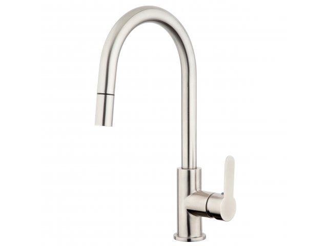 Stainless Steel Gooseneck Pulldown Sink Mixer
