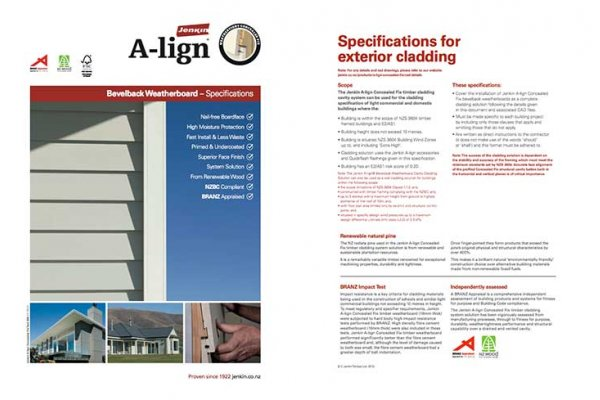 Specification Documents Now Available for Jenkin A-lign
