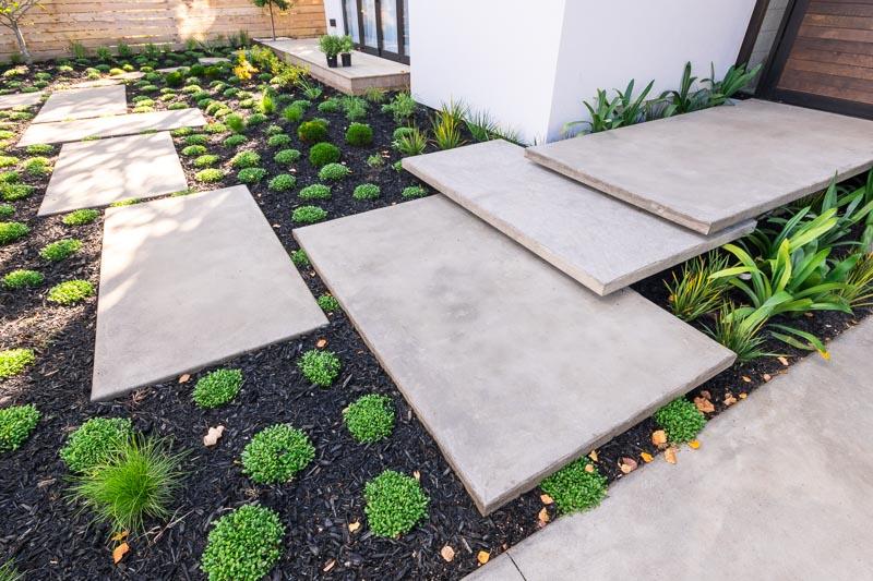 Peter Fell Coloured Concrete Steps Provide Imaginative