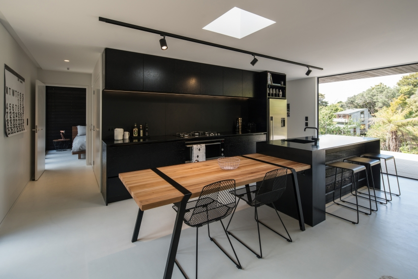 Structure Meets Style In Award Winning Waiheke Kitchen By