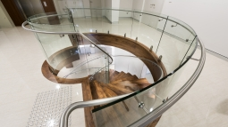 glasshape curved glass staircase atrium 1