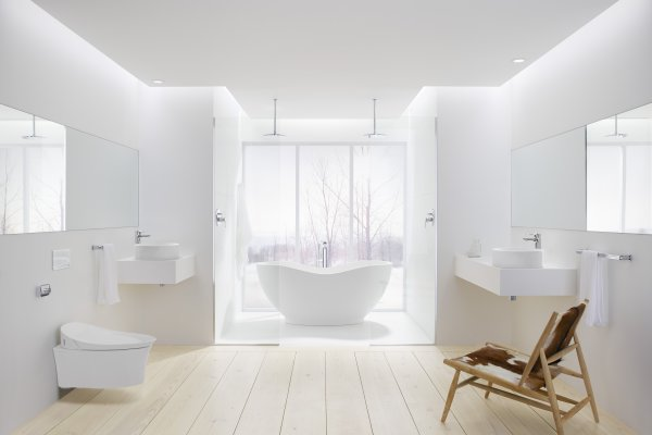 White on White: The Quintessential Bathroom Edit