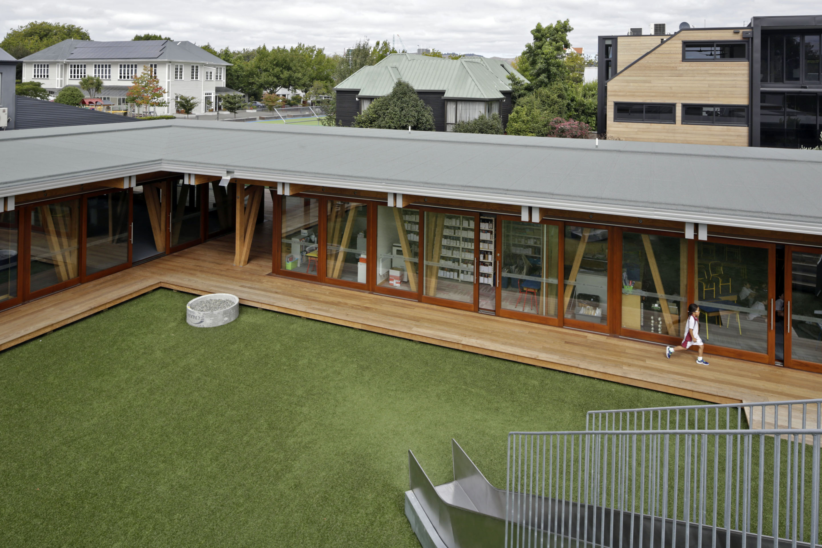 Nuralite Provides Attractive Low Pitch Roof For