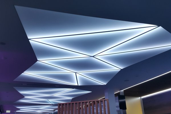 Stretch Master Barrisol Ceiling Illuminates Airport Check-In Area