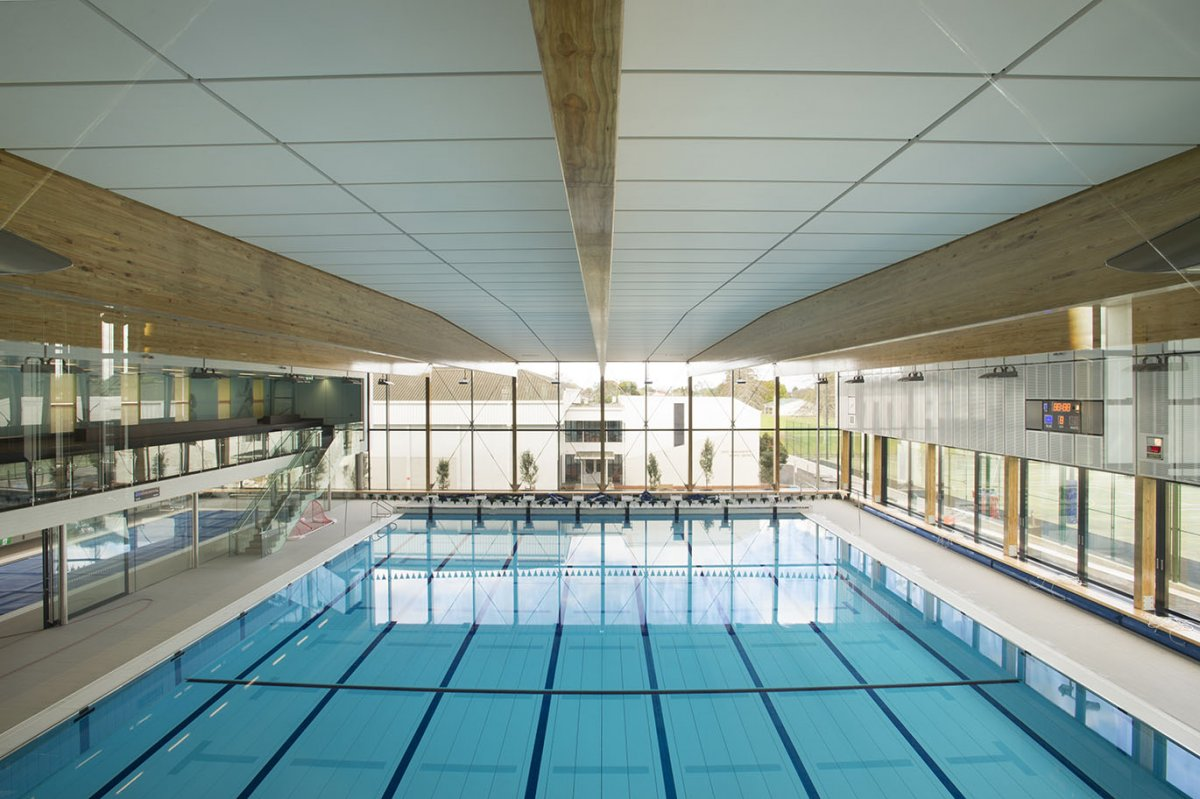 Lightweight ceiling panels a safer way to go eboss for Indoor swimming pool ceiling materials