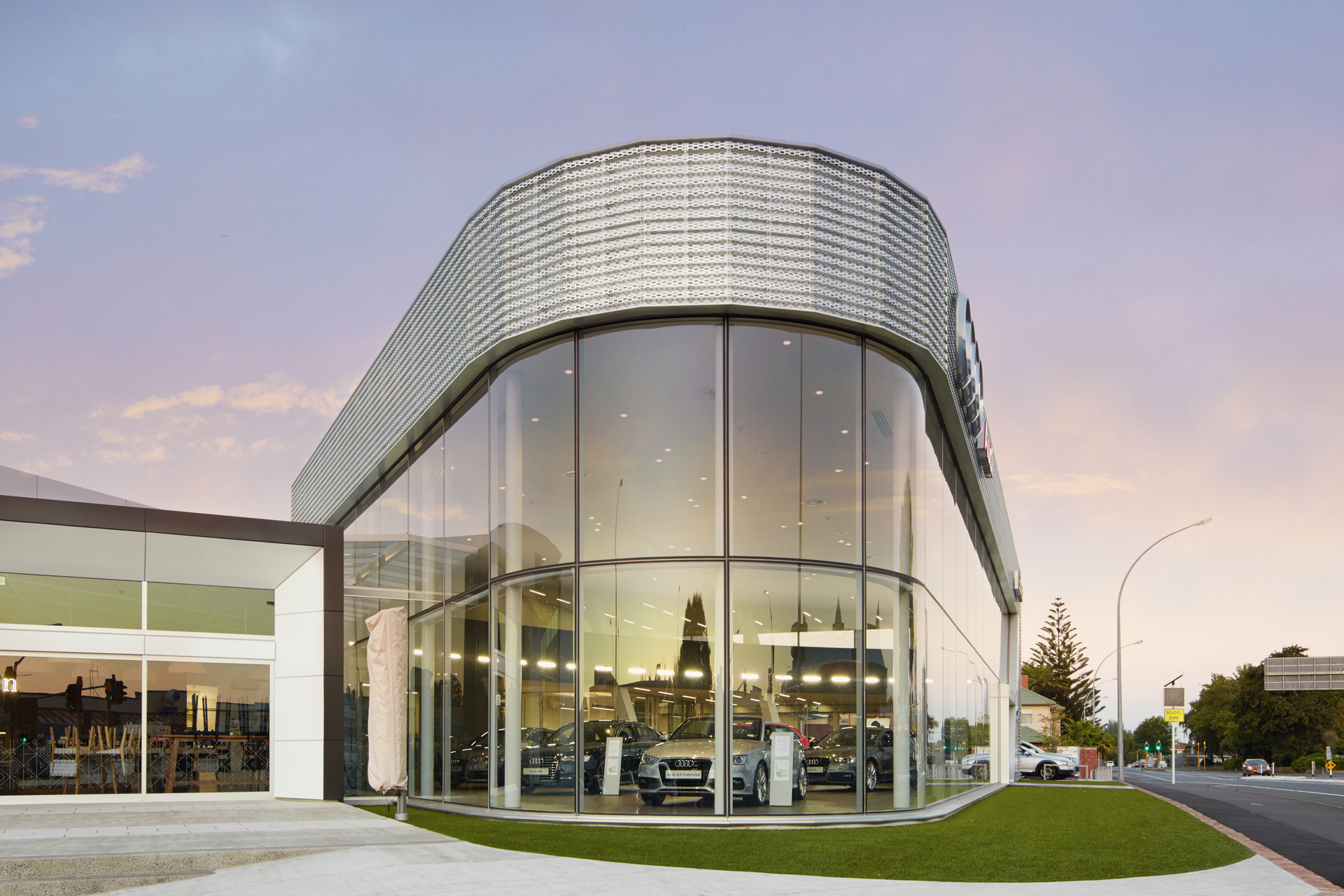 Curved Glass Facade Turns Heads At Ebbett Audi Hamilton