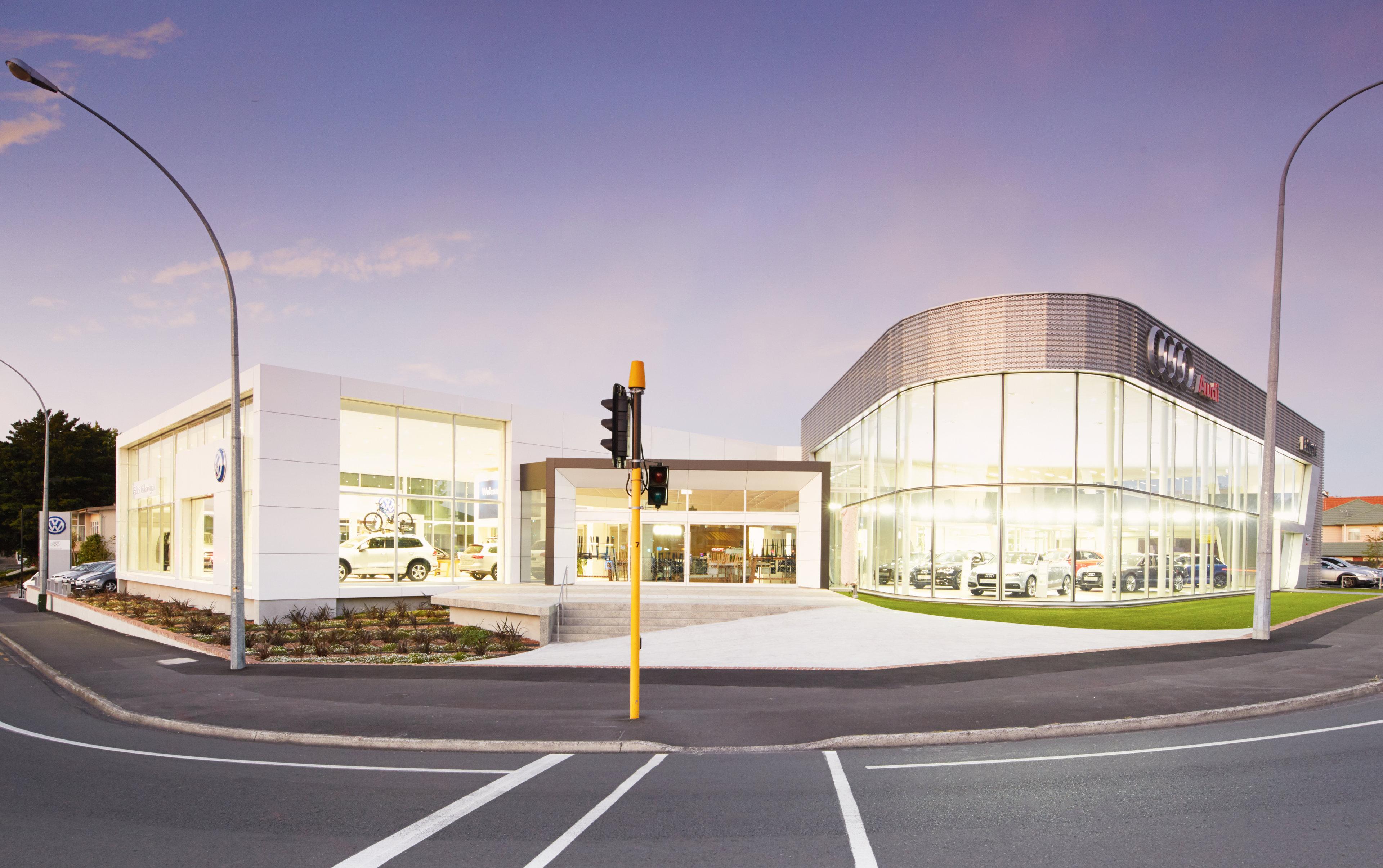 Curved Glass Facade Turns Heads At Ebbett Audi Hamilton