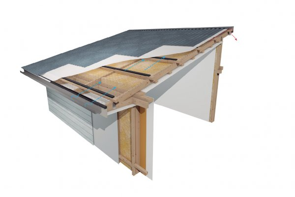 Ventilate Mono Pitched Skillion Roofs with a Vent Passive Ventilation System