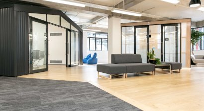 Advance Flooring Brings Movement and Colour to Newmarket Office