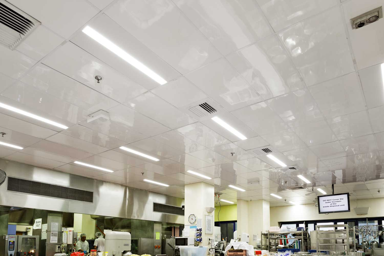 Commercial Kitchen Ceiling Replaced with Low Maintenance ...
