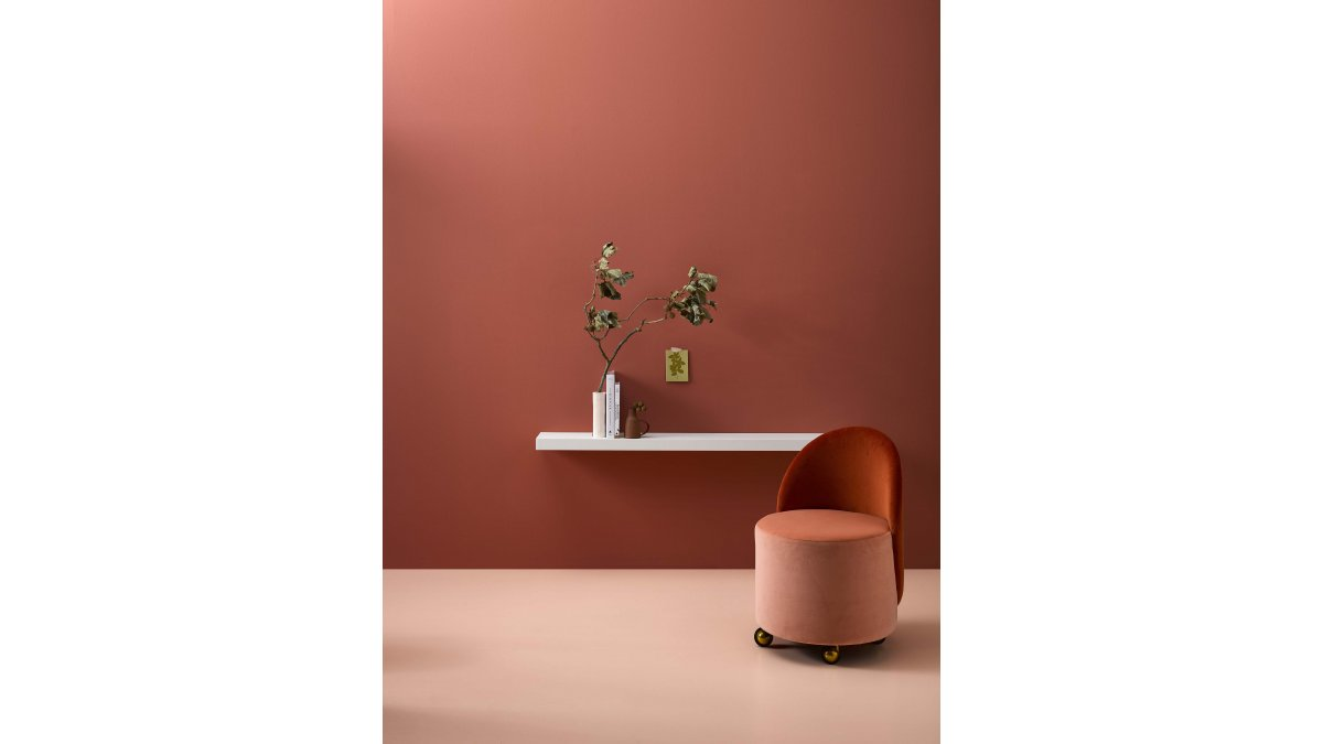 The palette is bringing in earthy roses as it evolves through to terracotta.