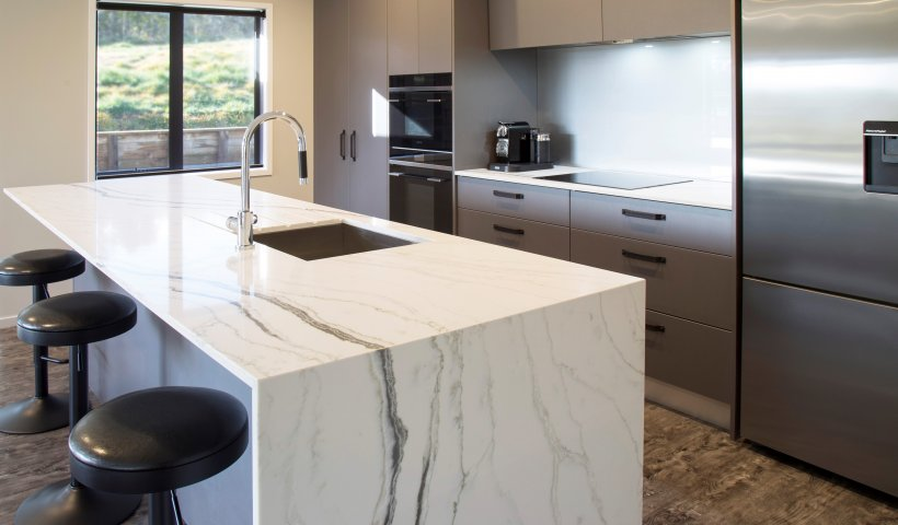 Smartstone Bianco Molasa Fits Client Brief for Unique Benchtop