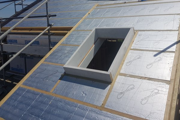 PIR Insulation Board Achieves High R-Values for Skillion Roof Installation