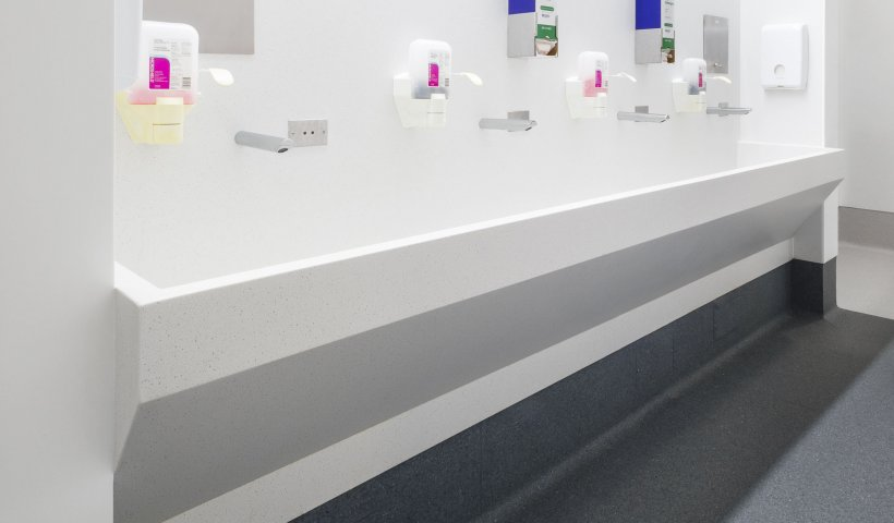 Hygienic, Non-Porous Material from Corian Solid Surface