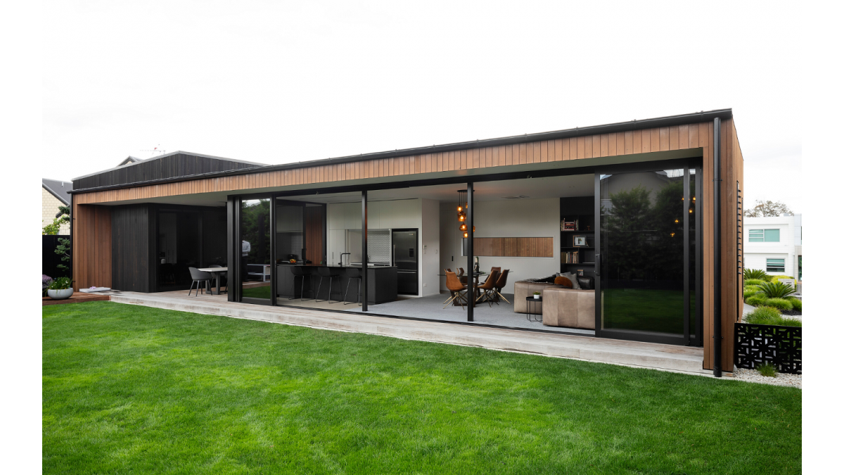APL Architectural Series sliding doors opens the home right up.