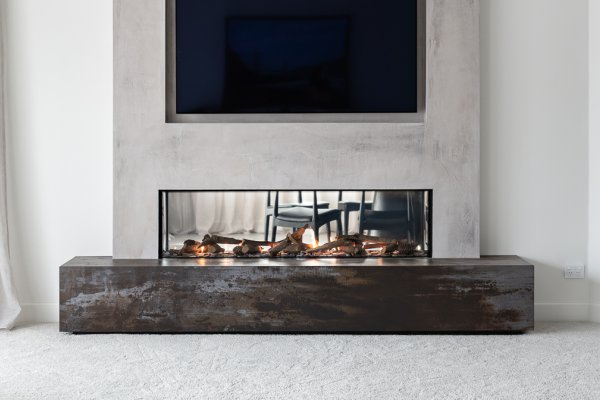 Stunning Double-Sided Fireplace Adds Sense of Luxury and Connection