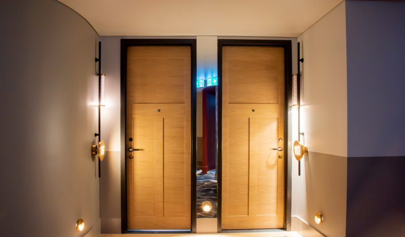 Fire Doors with Panelled Veneer Design Options