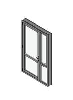 Hinged Door with Sidelight Mullion Open Out